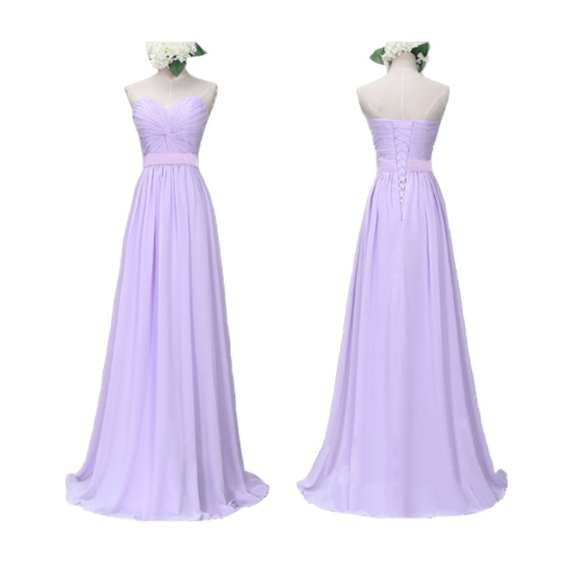 7b8a00680fb39 New Arrival A Line Light Purple Bridesmaid Dress With Pleat Style Long  Chiffon Party Dress Wedding Party Dress vestido de festa-in Bridesmaid  Dresses from ...