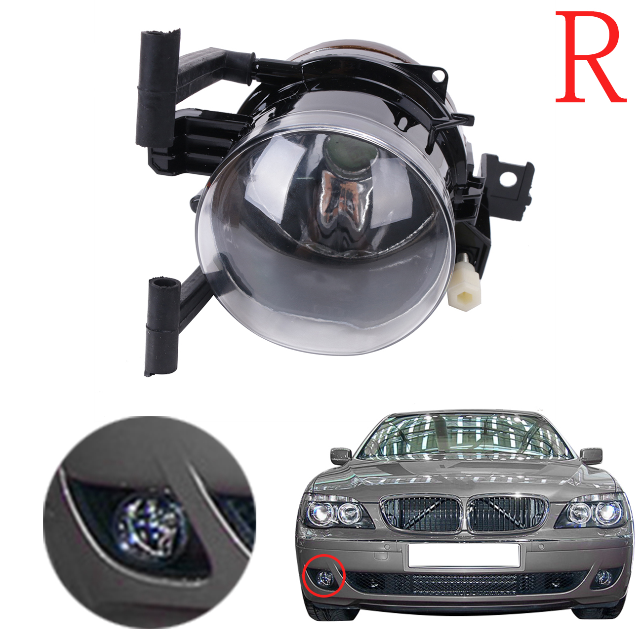 Auto Front Bumper Driving Fog Light Lamp For BMW E65 E66 Facelift 7 Series 745i 750i 760i / Li 2005 - 2008 Right Side #W082-R 1 pc rh right side front fog light bumper driving lamp with cover for mazda 6 2003 2005
