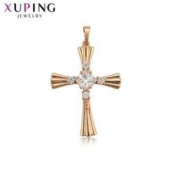 Xuping modny wisiorek biżuteria jezus Seris krzyż Charms style naszyjnik wisiorek na neutralny dzień ojca prezent 33786