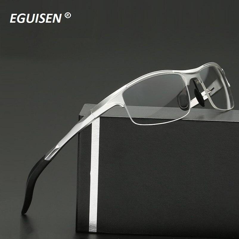 56-13-149 The new aluminum magnesium alloy spring legs eyeglasses frame men glasses riding windproof male brand spectacles frame