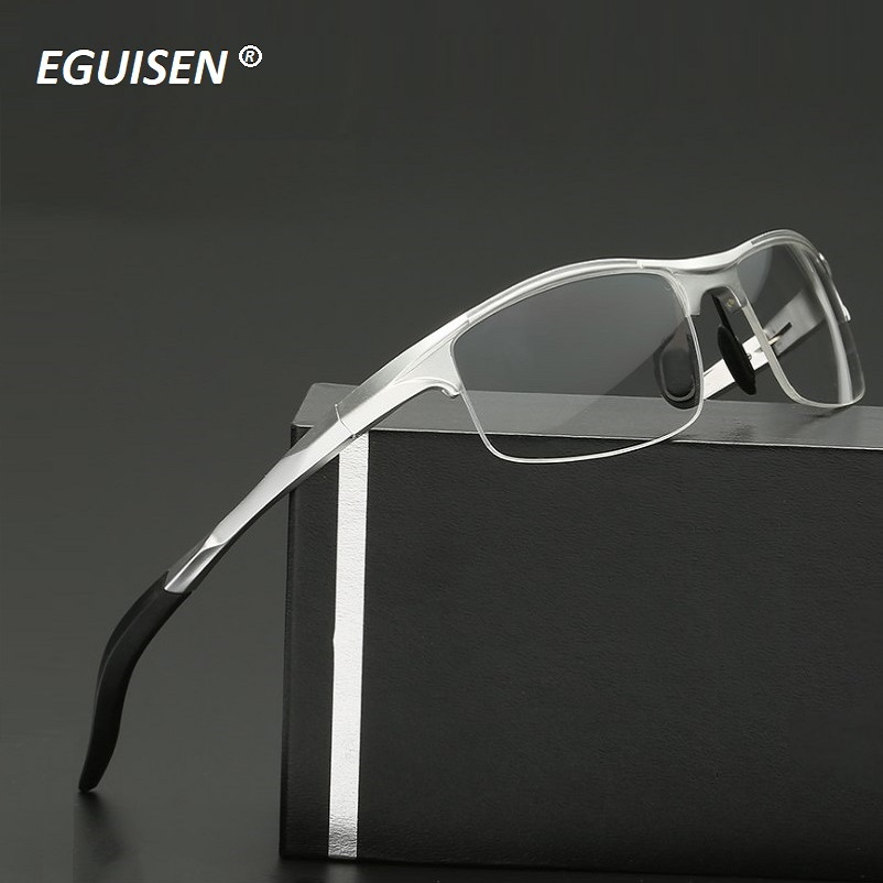 Width-145 Al Mg Alloy Spring Hinge Men Eyeglasses Frame Riding Windproof Brand Optical Men Myopia Glasses Eyewear Frames Cycling