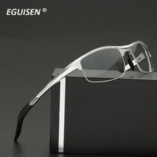 Myopia is male Pure titanium half box myopia man glass frame With light eyes wholesale