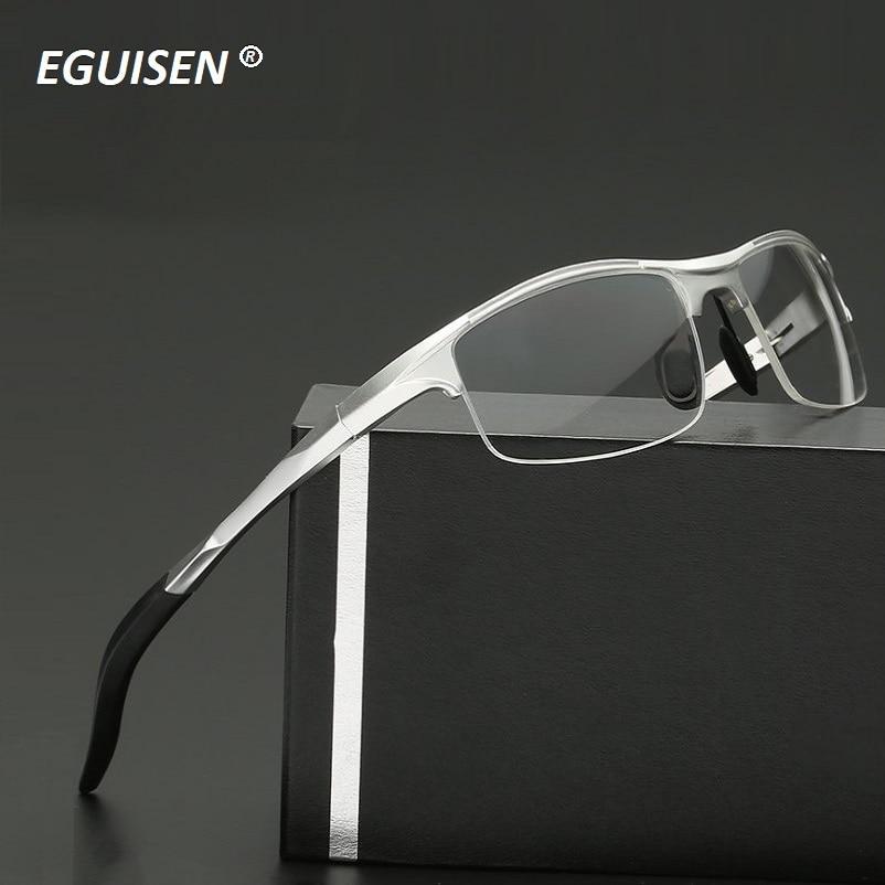 width-145 Al Mg Alloy Spring Hinge Men Eyeglasses Frame Riding Windproof Brand Optical Men Myopia Glasses Eyewear Frames Cycling