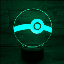 Pokemon Go Ball Figure Led Nightlight Dropshipping 2019 Battery Night Light Child Kids Birthday Present Usb Led Lamp Child Ball dragonite 3d crystal ball pokemon go light glass ball engraving round with black line ball led colorful base child s gift