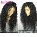 8A Top Grade Bleached Knots Glueless Afro Kinky Curly Full Lace Wigs Brazilian Virgin Human Hair Afro Wigs for Black Women