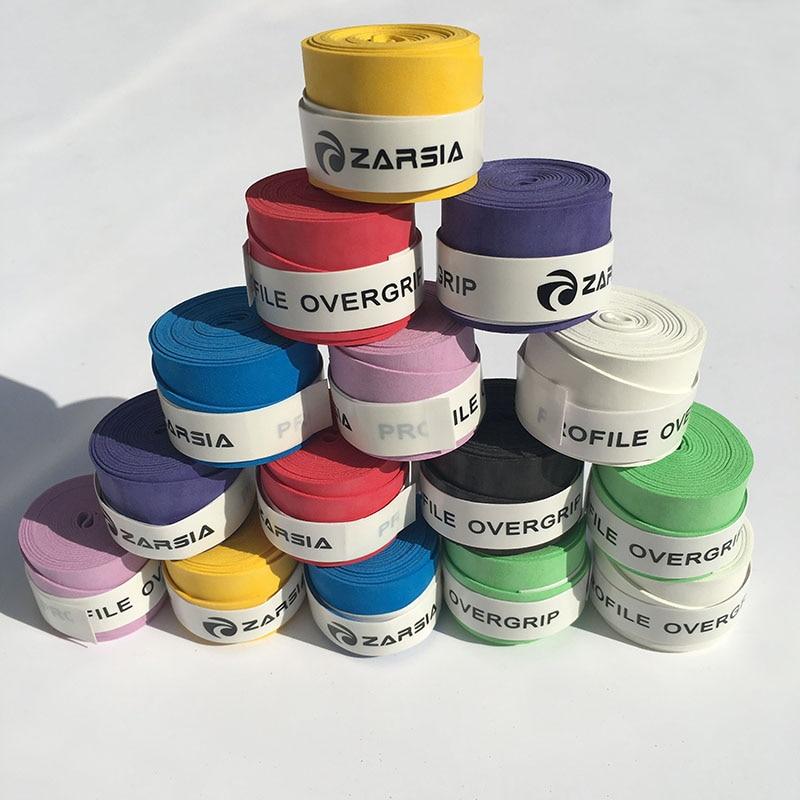 Prix pour 10 pc ZARSIA assorties couleurs badminton grip, toucher sec De Tennis surgrip, badminton sur prise, squash raquette grip livraison gratuite