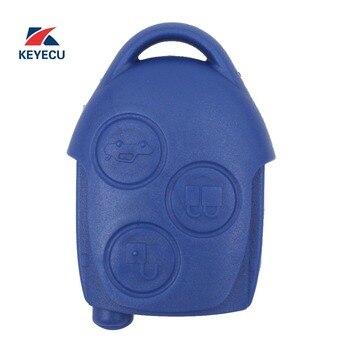 KEYECU Подлинная Замена дистанционный ключ-брелок от машины 3 кнопки 434 МГц для Ford Transit WM VM 2006-2014
