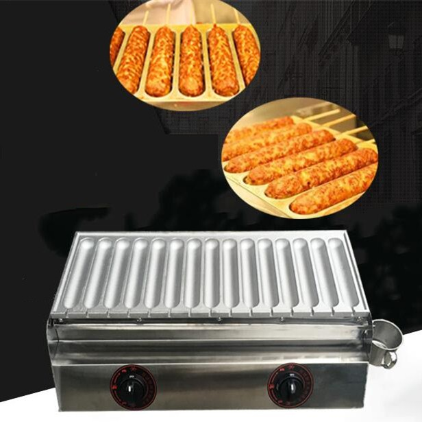2017 new style hot dogs machine,LPG sausage machine, 15 tunes non-stick plate waffle maker, commerical grilled sausages machine 2017 lpg 10 tubes egg sausage maker korean roll maker barbecue pill maker eggs roll sausage machine
