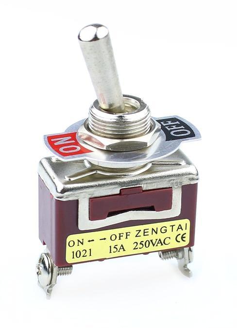 10A SODIAL R 6A 125V 5 Pcs SPST On//Off Momentaneo Off Balancin Interruptor AC 250V