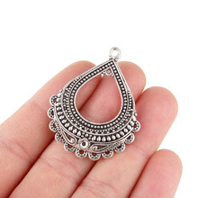 TJP 4pcs Antique Silver Tone Chandelier Earring Multi Strand Connector Charms Pendants for DIY Jewelry Making Findings 44x35mm tjp 4pcs antique silver tone chandelier earring multi strand connector charms pendants for diy jewelry making findings 44x35mm