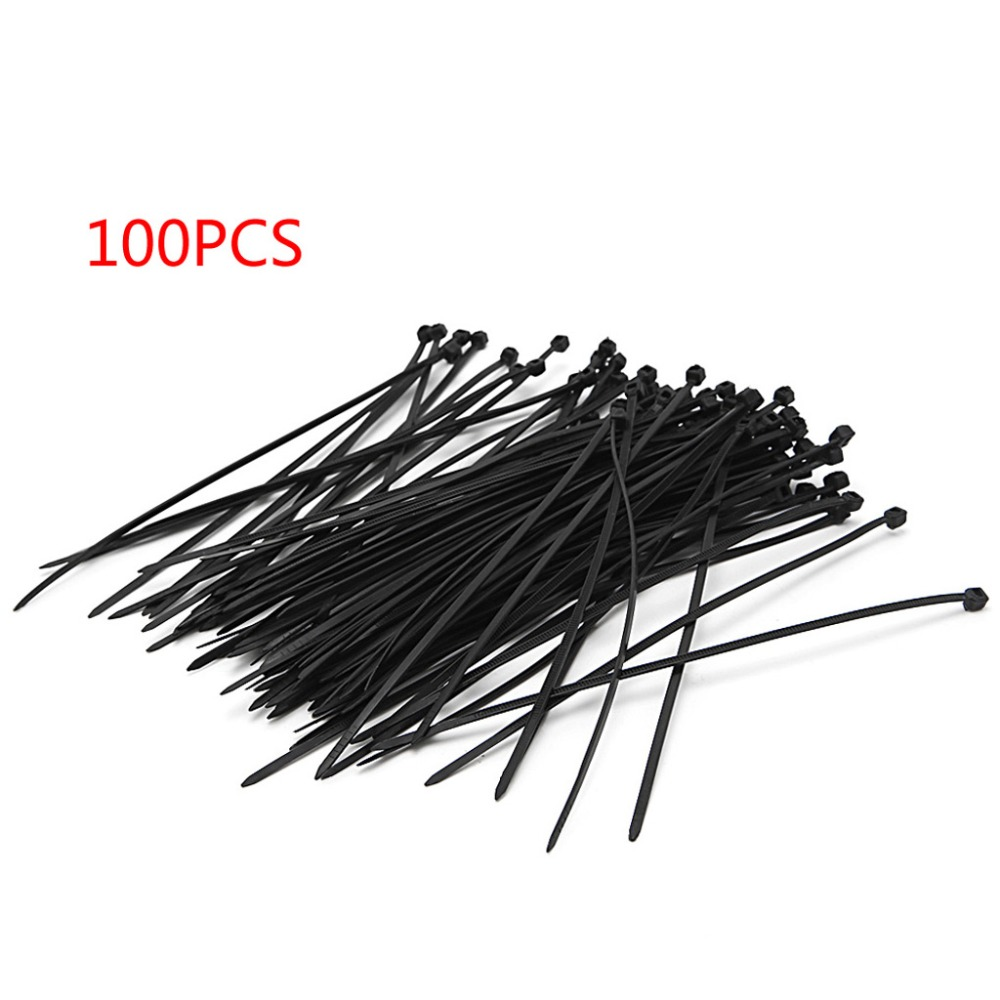 OOTDTY 100Pcs 3X150MM Self Locking Nylon Wire Cable Zip