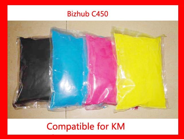 High quality color toner powder compatible for Konica Minolta Bizhub c450/450 Free Shipping free shipping toner refill powder compatible for konica minolta c452 high quality