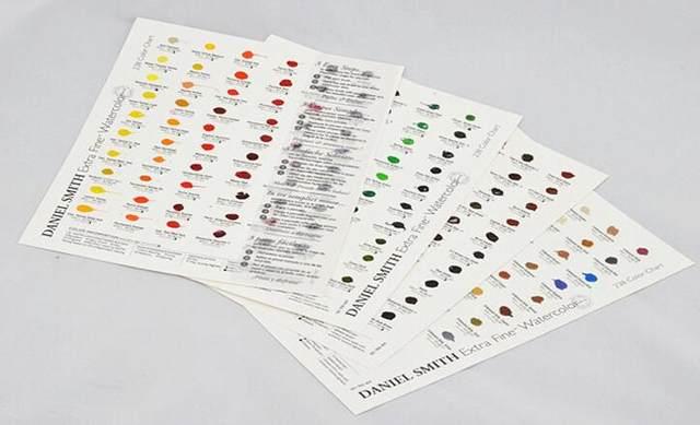 Online Shop Daniel Smith Watercolor Dot Color Chart 66 Colors 237