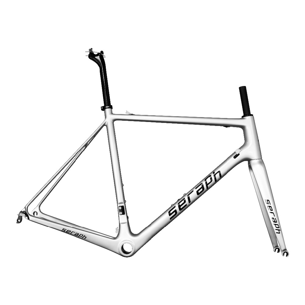 2019 SERAPH Silver Paint Super Light Hight Modulus Toray Carbon T1000 Road Carbon Bike Frame Fm066