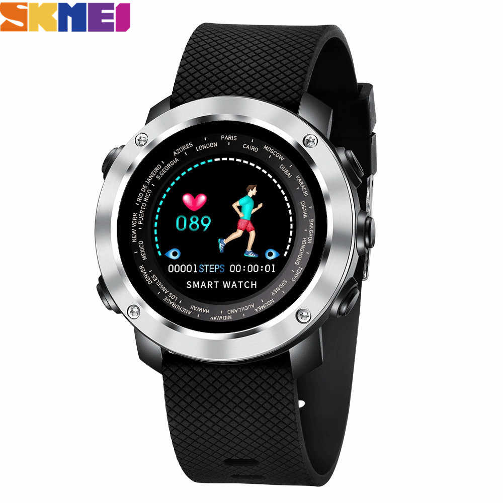 SKMEI Fashion Smart 3D Watches Men Women Outdoor Bluetooth Sport bracelet Heart Rate Monitor Pedometer Fitness Smartwatch W30