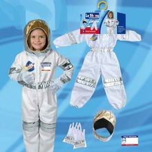 Astronaut Costume Rocket Party-Game Carnival Role-Playing-Dressing-Ball Children's Boy