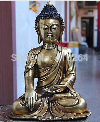 Tibet Buddhism Temple Copper Bronze Gild Tathagata Sakyamuni Buddha God StatueTibet Buddhism Temple Copper Bronze Gild Tathagata Sakyamuni Buddha God Statue