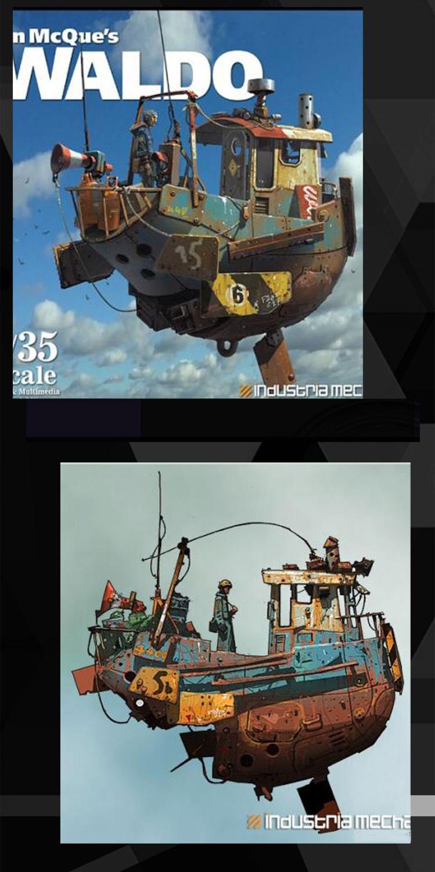 Steampunk 15 CM suspensión barco miniaturas fantasía Waldo fino Dioramas sin pintar montaje DIY resina figura modelo Accesorios-in Kits de construcción de maquetas from Juguetes y pasatiempos    1