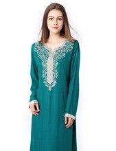 Muslim women Long sleeve Dubai Dress maxi abaya jalabiya islamic women dress clothing robe kaftan Moroccan fashion