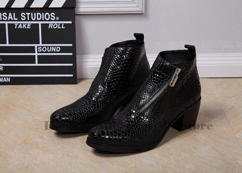Men Oxfords Ankle Boots Man 2019 Black Leather Shoes British Man Cut Outs Dress Shoes Big Size 38 47