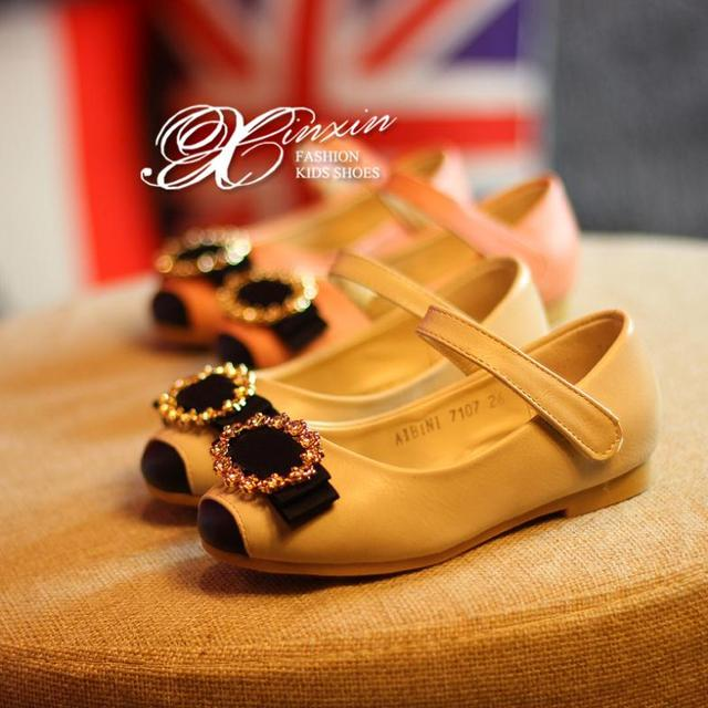 Nova primavera princesa meninas sapatos crianças sapatos meninas sapatos de couro de alta qualidade crianças sapatos meninas apartamentos