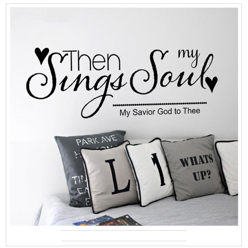 English Quotes Sing My Song/Look up me Removable Wall Stickers Living Room Bedroom Decal Kids Room Decorative Sticker