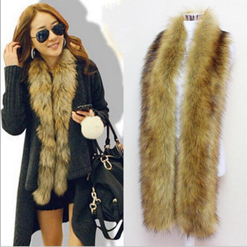 faux Fox fur scarf raccoon fur collar winter cosplay party scarf unreal wolf rex rabbit fur scarf imitated fur scarf