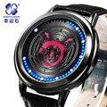 Кусает змея часы Xingyunshi Мужской СВЕТОДИОДНЫЕ Часы Мужская Кожаная водонепроницаемый Цифровые часы мужские Наручные Watchesrelogio masculino