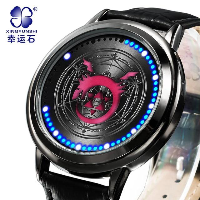 Biting snake watch Xingyunshi Male LED Watch Men Leather waterproof Digital watches Men's Wrist Watchesrelogio masculino