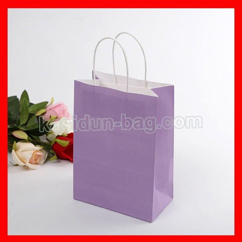 Pink Papier lot dark Green Green light white fruit Pcs Bag yellow Bag Personnalisé Logo En Poignées Cadeau Dark Purple 100 Paper brown rose dark red Avec Sacs Blue xA1wnZq6
