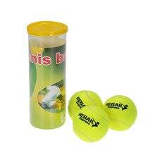 3 шт. Высокая устойчивость теннисный мяч Обучение Практика прочный аксессуар для игры в теннис мяч шары для тренировок для соревнований начинающих