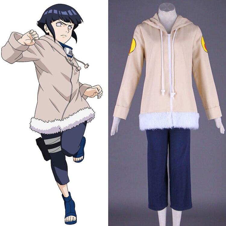 Free shippingHot Anime font b NARUTO b font font b cosplay b font Hyuga Hinata cos