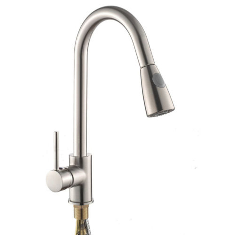 kitchen 360 degree rotation zinc alloy Pull out faucet
