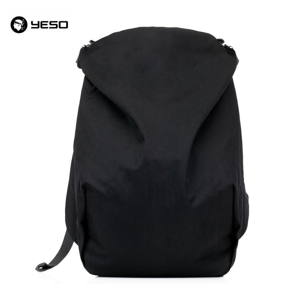 YESO marque Style américain Simple hommes loisirs noir gris pratique étanche Nylon 15.6 sac à dos pour ordinateur portable voyage sac à dos
