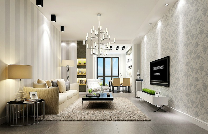 Awesome Modern Sliver And White Striped Non Woven Wallpaper For Living Room Sofa  Background Wall Cover Paper In Wallpapers From Home Improvement On  Aliexpress.com ... Part 12