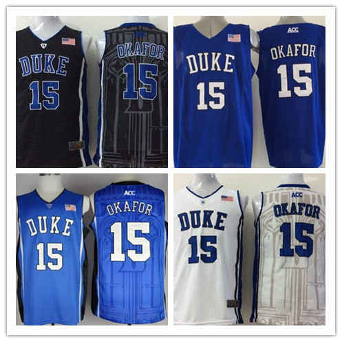 best service 525a8 d8501 US $24.66 |Freeshipping! Men's Duke Blue Devils #15 Jahlil Okafor College  Football Jerseys New Stitched Embroidery Cheap for wholesale-in Baseball ...