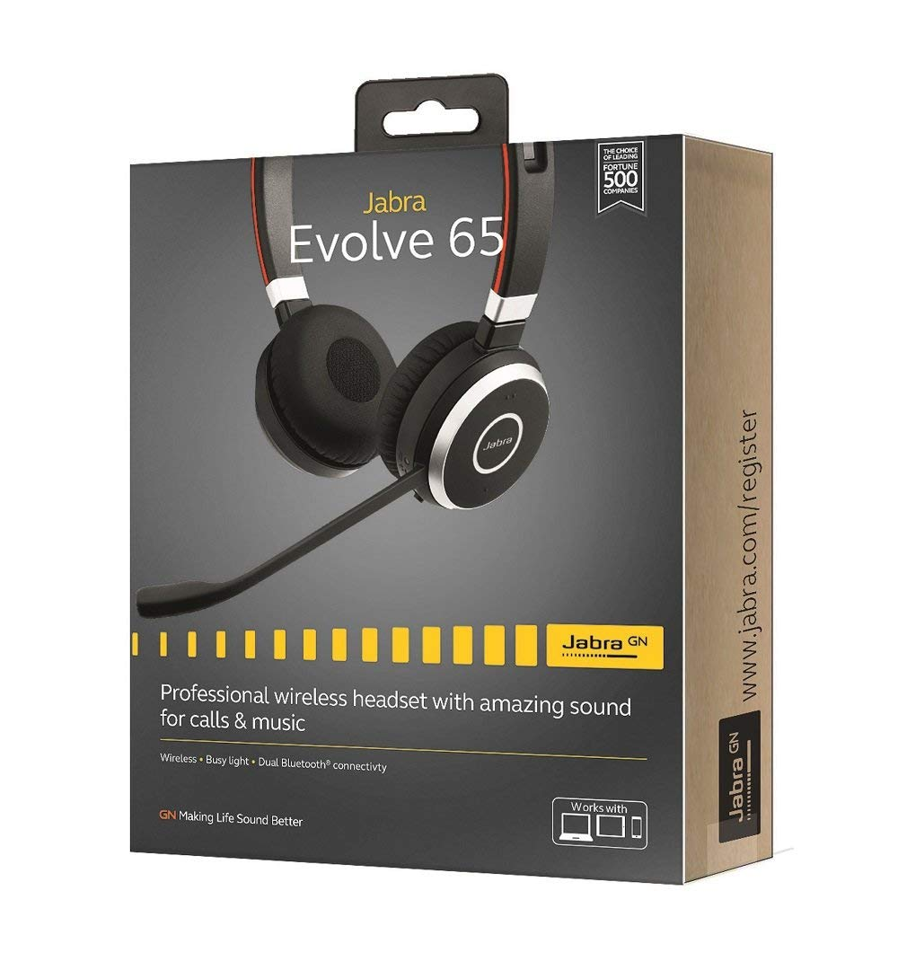 Jabra Evolve 65 Uc Stereo Wireless Bluetooth Headset Music Headphones Includes Link 360 Bluetooth Earphones Headphones Aliexpress