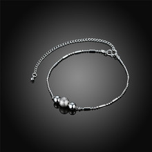 Silver Plated Charm Butterfly Bead Feet Anklets For Women Ankle Bracelet Foot Jewelry Barefoot Sandals Chain Bracelet Chains