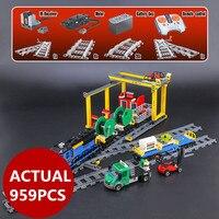 Lepin 02008 City Series The RC Freight Train Set 959pcs Compatible 60052 Model Building Blocks Bricks