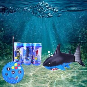 NEW Mini RC Shark Remote Control Animal Simulation Submarine Toys For Children Play Bath