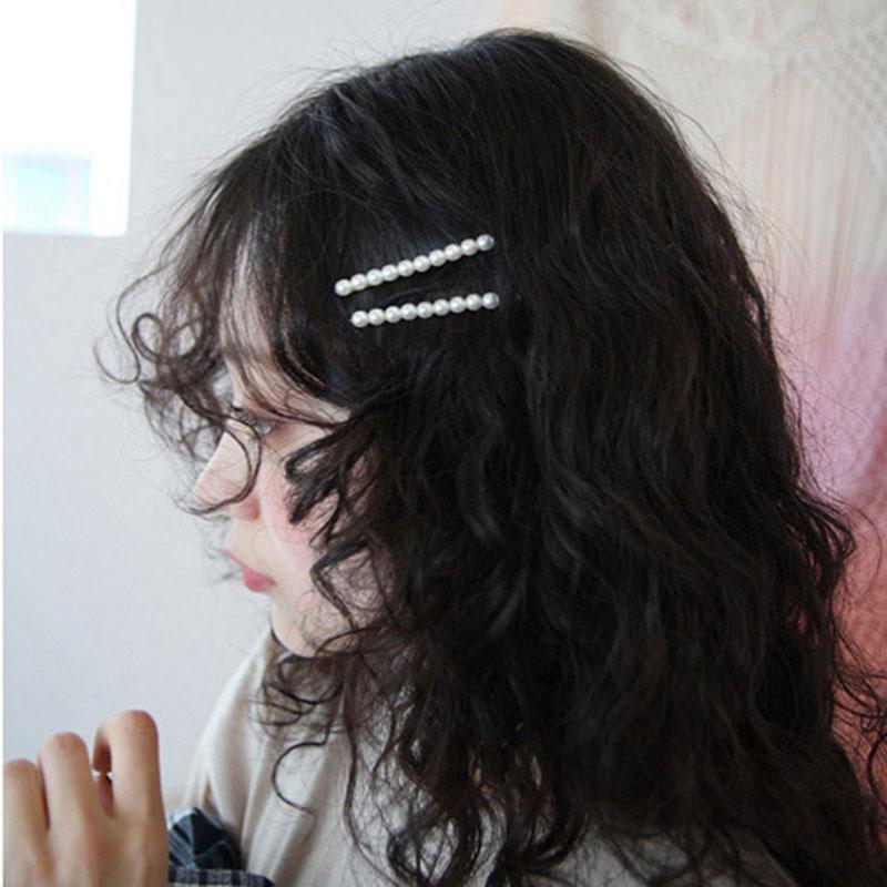 Fashion Sweet Imitiation Pearl Minimalist Hair Clip Hair Accessories Hairpin Barrettes Women Girls Hairgrip Headdress Ornaments