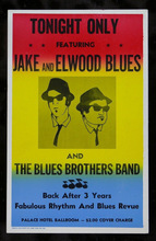 Free shipping 1831 The Blues Brothers Movie Replica Prop Concert movie Poster printed silk wall decoration 24x36in