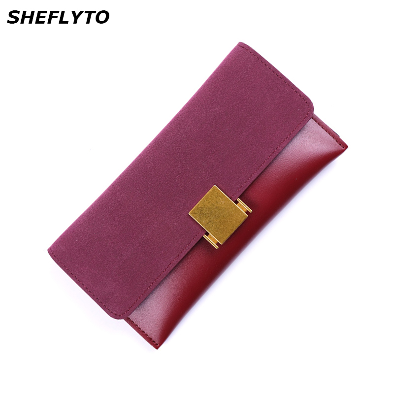 Luxury Brand Designer Leather Slim Wallets Women Long Hasp Coin Purses Clutch Phone Wallets Female Credit Card Holder Money Bags 2016 luxury women wallets genuine leather crocodile purses business wallets for woman shinning money cash bag card holder clutch