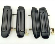4 pçs conjunto completo frente traseira do carro maçaneta da porta exterior preto para mitsubishi pajero montero v31 v32 v33 v43 v46 v47