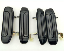 4pcs Full Set Car Front Rear Outer Door Handle Black for Mitsubishi Pajero Montero V31 V32 V33 V43 V46 V47