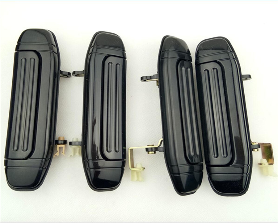 4pcs Full Set Car Front Rear Outer <font><b>Door</b></font> <font><b>Handle</b></font> Black for <font><b>Mitsubishi</b></font> Pajero Montero V31 V32 V33 V43 V46 V47 image