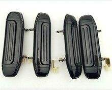 4pcs מלא סט רכב קדמי אחורי חיצוני דלת ידית שחור עבור מיצובישי פאג רו מונטרו V31 V32 V33 V43 V46 v47