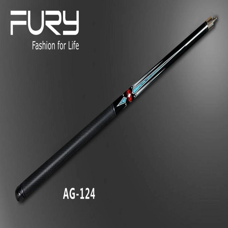 Fury Pool Cue Model AG-124 Special Selected Maple wood Shaft 147CM American billiard Stick 19oz pool billiard cue cherry brown wood 11 75mm