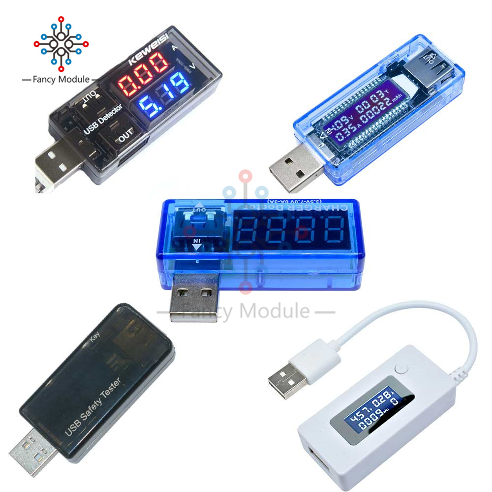 Diymore USB Charger Doctor Voltage Current Meter Working Time Power Battery Capacity Tester Measurement Tools