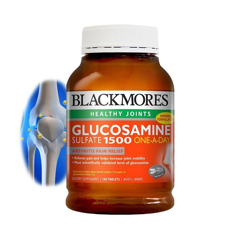 Australia BM Glucosamine Sulfate Reduce Mild Arthritis Joint Aches Pains Healthy Joint Cartilage Joint Mobility Flexibility